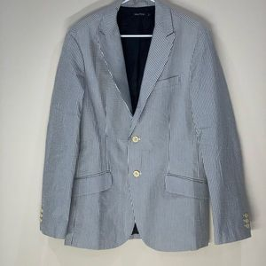 Nautica Seersucker Blue White Strip Jacket